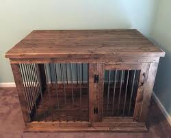 wooden dog crate furniture. Dog Kennel End Tables Custom Furniture Crate Hinged Door Wood . Wooden