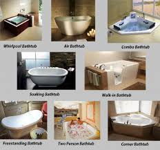 colossal types of bathtubs diffe bath tub