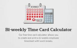 Bi Weekly Time Card Bi Weekly Time Card Calculator Semi Monthly Calculator With Lunch