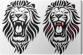 Obrazy Na Plátně Tetování Lev Pixers žijeme Pro Změnu