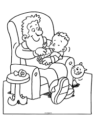 Kleurplaat Vader Geeft Baby Een Fles Kleurplatennl