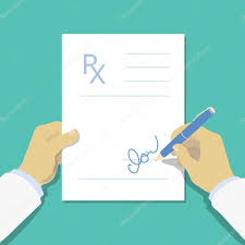 doctor prescription pad medical prescription pad flat design style rx form medical