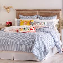 the pioneer woman ticking stripe duvet cover blue com within designs 13