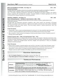 Best Software Engineer Resumes Objective In Resume For Software Engineer Object Best Career