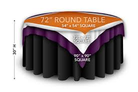 72 round tables displaying square overlays