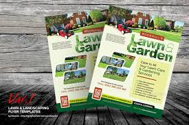 lawn care advertising templates lawn landscaping flyer templates by kinz on spring lawn care flyer