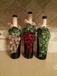 Wine Bottle Decorations Handmade Decorated Wine Bottles Diy Project Crafts Pinterest 16