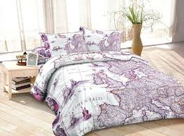 purple duvet cover ancient europe map bedding sets custom made bed sheets queen full twin bedroom