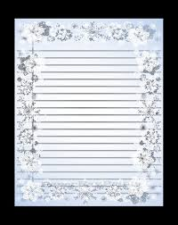 Lined Page Template New Printable Lined Paper With Snowflake Border Christmas Border Etsy