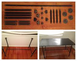 diy galvanized pipe desk make the base from pipe parts found at your local