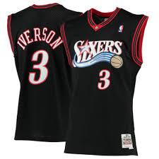 simmons 76ers jersey. men\u0027s mitchell \u0026 ness allen iverson black philadelphia 76ers 2000-01 hardwood classics swingman jersey simmons b