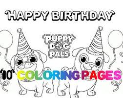 Puppy Dog Pals Coloring Page Design Templates
