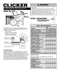 clicker universal garage door openerSolve Clicker CLK1 problem