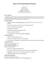 Resume Example For Job Templates Summary Examples