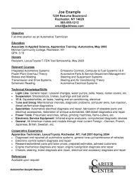 Automotive Resume Objective Cover Letter Sample For Banking Internship Resume Format