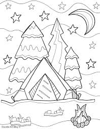 Coloring Pages Camping Camper Trailer Family Reunion Betterfor