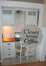office in a closet ideas. Closet Turned Office Iu0027ve Always Loved This Idea But Iu0027d In A Ideas D