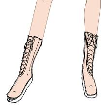 fashion boots drawing. pin drawn boots simple #7 fashion drawing