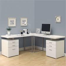 3 piece 48 l shaped desk set in white