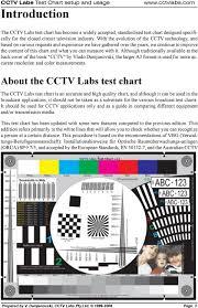 Cctv Labs Test Chart Pdf Free Download