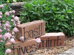 painted bricks pots rocks