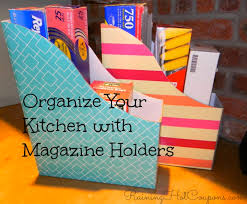Dollar Store Magazine Holder Awesome Organize Your Kitchen With Magazine Holders Just 32532 Each