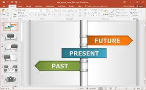 power points template interactive past present future powerpoint template