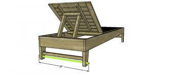 diy outdoor lounge chair plans. add the axle: this is really simple and you will use a drill bit to create hole in back legs at distance that equals same as diy outdoor lounge chair plans t