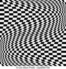 Chequered Pattern Simple Checkered Chequered Pattern With Wavy Distortion Vector Art