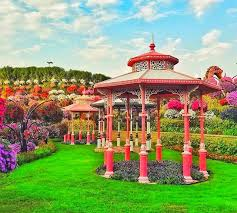 structure of gazebos at the dubai miracle garden