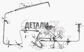 Управление стояночным тормозом МАЗ 509А 119