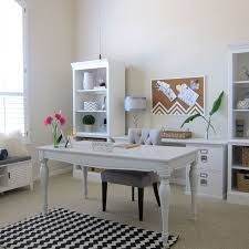 office makeover ideas. shabby chic office makeover white bright home decor ideas