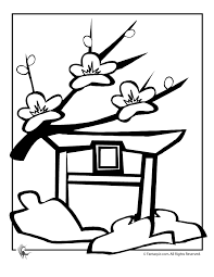 Small Picture Cherry Blossom Coloring Pages Coloring Home