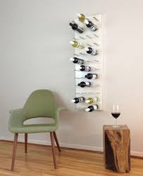 Innovative White Wall Wine Rack Wine Wall Rack 4 Panels Pure White Lacquer  Modern Dining