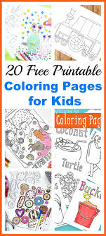 20 Free Printable Coloring Pages For