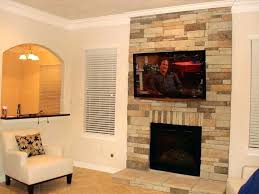 can you mount a lcd tv over gas fireplace mounting stone brick installing wall fireplaces above lcd