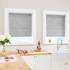 Light Filtering Window Shades Cut To Size Grey Cordless Light Filtering Roller Shades 31 In W X 64 In L