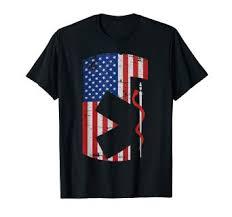 Ems Charting Systems Amazon Com America Flag Ems Emr Emt Line Thin Design T