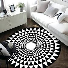 round rug black and white modern geometry carpet black white round rug carpets for living room