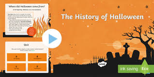 Powerpoint History History Of Halloween Powerpoint All Saints Day All Hallows Eve
