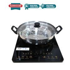Bếp Từ Cảm Ứng SUNHOUSE SHD6800 Tặng Kèm Nồi Lẩu - Bảo hành chính hãng 12  tháng: Mua bán trực tuyến Bếp điện với giá rẻ