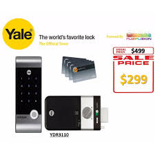 Yale Hi Tech RF Card Digital Door Lock (Rim Lock) - YDR 3110 ...