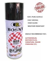 Bosny Spray Paint Color Chart Bosnybosny 100 Acrylic Spray Paint No 39 Black Box Of 12 Can