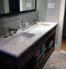 Backsplash for bathroom Marble Grey Wall Interior Ideas For Bathroom Backsplash Glass Subway Tile Next Luxury Top 70 Best Bathroom Backsplash Ideas Sink Wall Designs