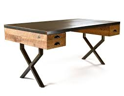 image of cool reclaimed wood desk