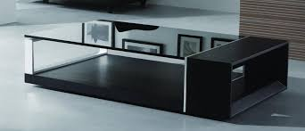 coffee table with black glass top