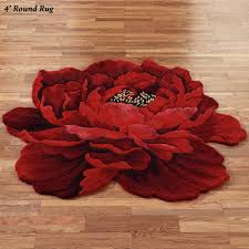 cheap round rugs. Bright Floral Area Rugs | Flower Shaped Rectangular Cheap Round N