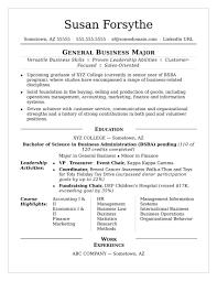Student Resume Fair College Resume Sample Monster Www Psycarespb Com