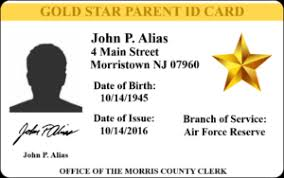 Gold Card Office Id Cards Morris County Nj Clerks Office