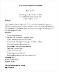 Resume For Nursing Students Musiccityspiritsandcocktail Com